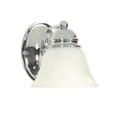 1 Light - 7 in. Vanity - Champagne Linen Washed Glass