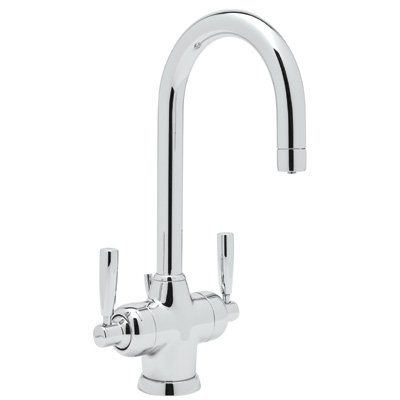 (Rohl U.1335LS-APC-2 C1419/1Apc U.1335 Perrin and Rowe Single Hole Bathroom Faucet with Triflow Technology, Polished Chrome)