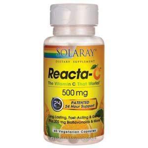 Reacta C 60 cápsulas de 500 mg. de Solaray