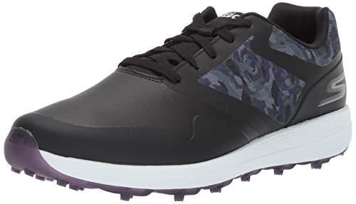 Skechers Women's Max Golf Shoe, Black/Purple, 7 M US