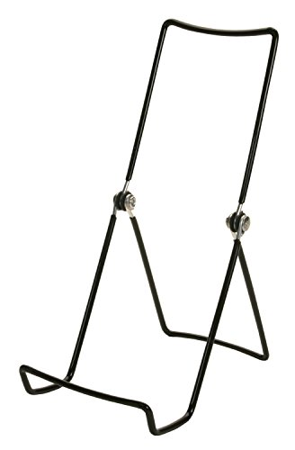 Easel Wire - GIBSON HOLDERS 6AC 3-Wire Display Stand with Deep Edge, Black, 12-Pack