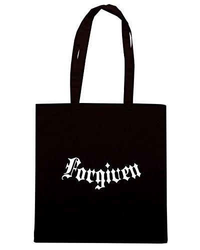 T-Shirtshock - Bolsa para la compra FUN0506 affforgiven black Negro