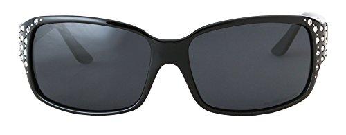 Humo sol Gafas Oscuro HZ Negro – Hornz de Serie mujer Marco Medianoche Lente para Diamante polarizadas de de YxRawwBSq