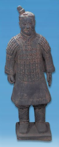 "Terra Cotta Standing Soldier Statue 20"" Chinese Army"