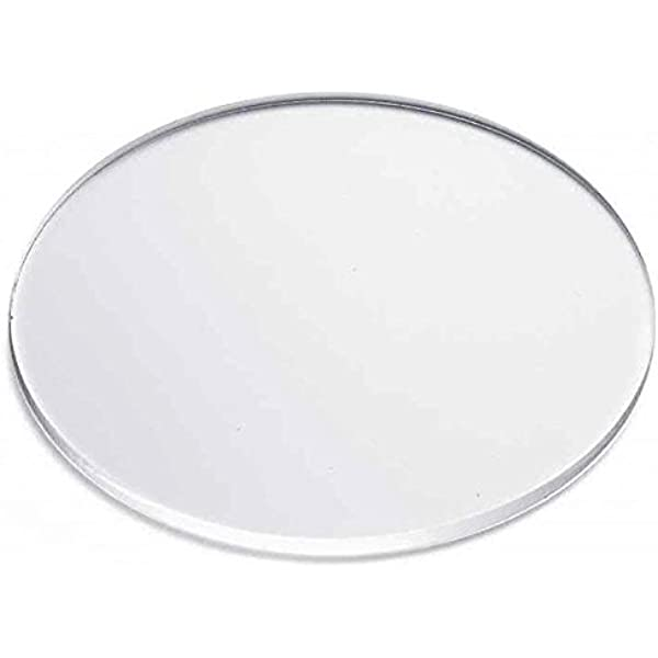 1//4 Thickness with 19 Diameter Plexiglass Circle with Custom Thickness and Diameter KastLite Clear Acrylic Disc Selection