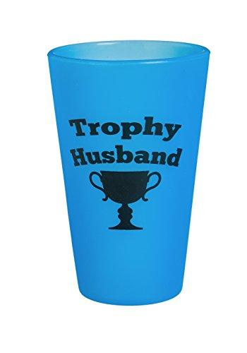 (Cypress SiliPint Trophy Husband Unbreakable Silicone Pint Glass, 16 oz)