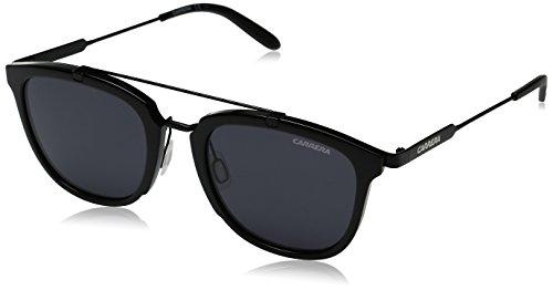 - Carrera Men's Ca127s Square Sunglasses, Shiny Matte Black/Gray Blue, 51 mm