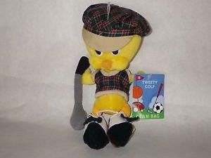- TB Tweety Bird Golfer Beanbag Plush 9 Inch NWT