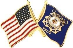 US Flag / US Coast Guard Lapel Pin or Hat Pin ()