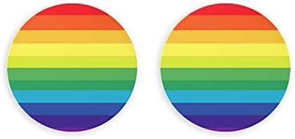 Abrebotellas de cerveza con textura de arco iris multicolor a rayas, 2 piezas con clip magnético, imanes magnéticos para nevera
