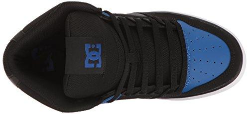 DC Men's Spartan HI WC Skateboarding Shoe, Black/Blue/White, 7 D US