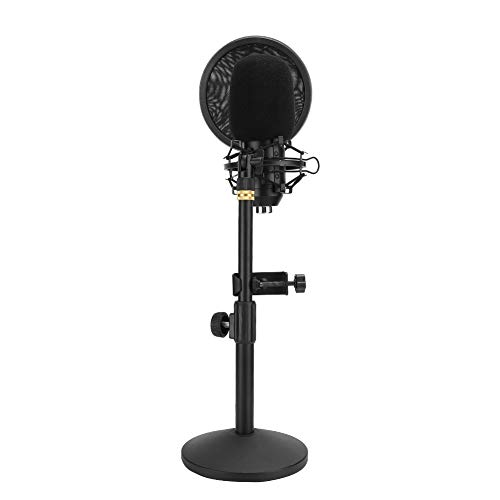 TOPINCN Condenser Microphone Set, with Shockproof Frame Noise Cancellation USB Microphone, for Recording Live Broadcast