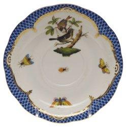 Herend Rothschild Bird Blue Tea Saucer Motif #4