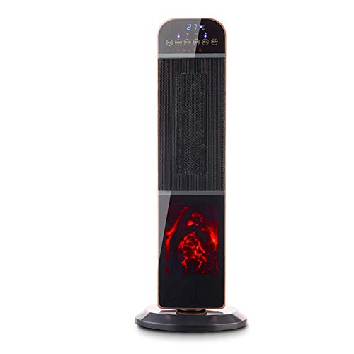 DYR PTC Ceramic Heater, Remote Control, LED Display, 8-Hour Timer, use Inside The fan2 1000W / 2000W Heat Settings