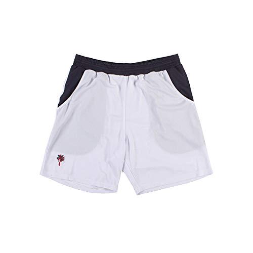 ROYAL PALM Pantalon Corto Tecnico Jucar Blanco/Gris: Amazon.es ...