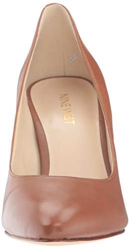 Leather Nine Natural Scheila Dark Heels West Closed Toe Women's SSqwR8xO