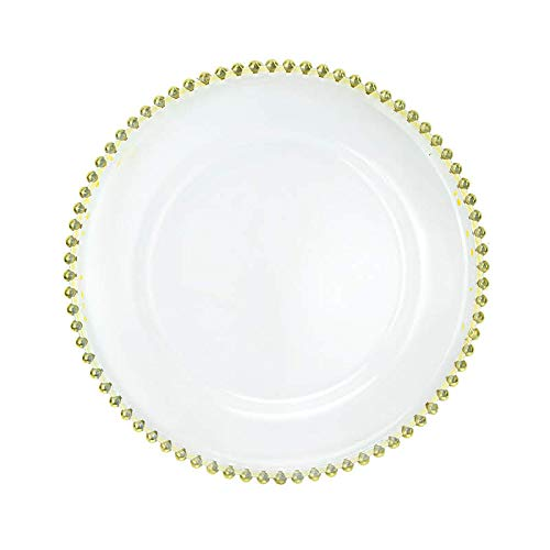USA Party Flower Elegant Clear Acrylic Charger Plate