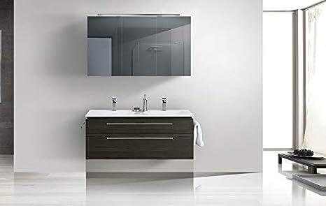 Badmöbel Set mit Spiegelschrank und Doppelwaschtisch 120 cm ...