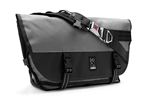 Chrome Industries Citizen Messenger Bag - Simple & Durable Satchel Bag | Keep Cargo Secure With Our Iconic Seat Belt Buckle | 26L - Gargoyle Grey