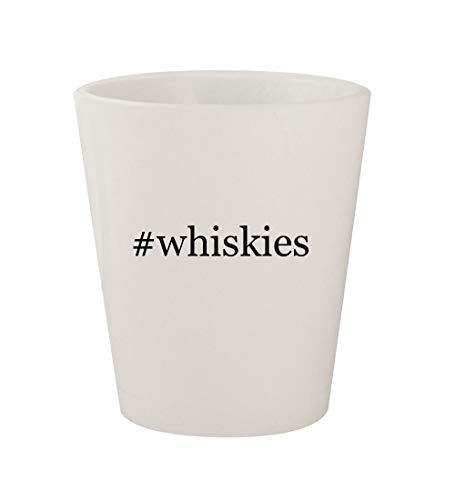 #whiskies - Ceramic White Hashtag 1.5oz Shot Glass