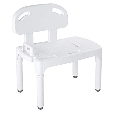 Carex Universal Tub Transfer Bench, Shower Bench and Bath Seat, Shower Chair Converts to Right or Left Hand Entry
