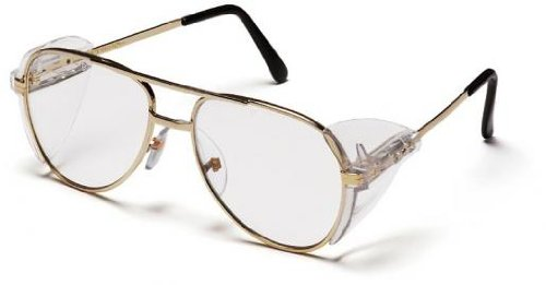 - Pyramex SG310A Pathfinder Safety Glasses Gold Metal Frame w/Clear Lens (12 Pair)