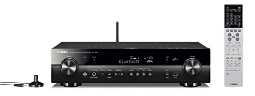 Yamaha RX-S601BL Receiver (Black Aluminum), Works with Alexa