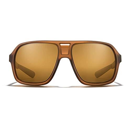 Sunglasses Root Beer - ROKA Torino Sports Performance Polarized Sunglasses for Men and Women - Matte Root Beer Frame - Bronze Polarized Lens