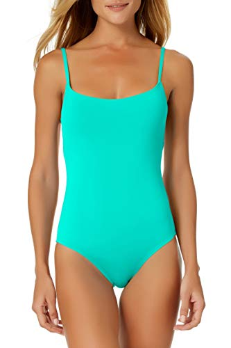 Anne Cole Classic Moderate Leg Maillot One Piece Swimsuit Green