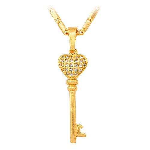 U7 Jewelry Plated Dimond Necklace