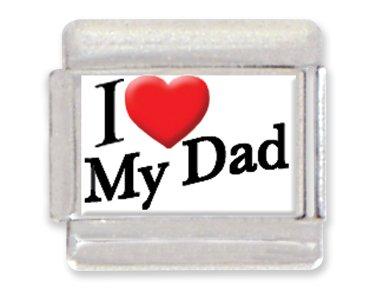 Love Italian Charm (I Love My Dad Italian Charm Bracelet Link)