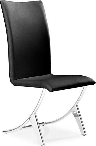 Amazon Com Zuo Modern 102101 Delfin Dining Chair Black
