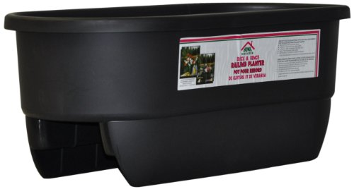 HOME DEK DEKOR DUAL-BLACK Dual Rail Planter by HOME DEK DEKOR