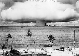 HUGE LAMINATED / ENCAPSULATED Atomic Bomb Bikini Atoll Amazing Photography POSTER measures 34 x 24 inches (86.5 x 61cm)