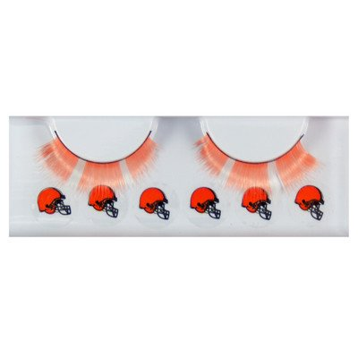 [NFL Cleveland Browns Eyelash Extension, Black] (Cleveland Costumes)