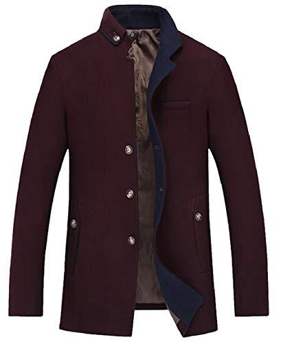Down Coat 1 security Jacket Men Classic Trench Business Woolen Topcoat wqwXSpZ