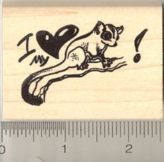 I love my sugar glider rubber stamp