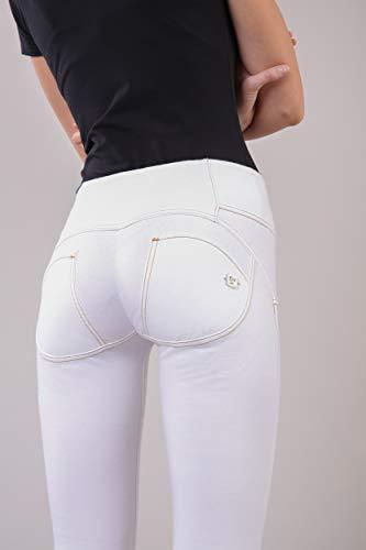 Long up® Wr Taille Élastique Skinny Coupe Moyenne En Blanc Et Coton 6S557Oqxw
