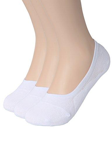 OSABASA Womens 3 Pair Casual No-Show Socks of Hidden Flat Boat Line WHITE US 5-8/Asia S (Fit 3 Hidden Elastic)