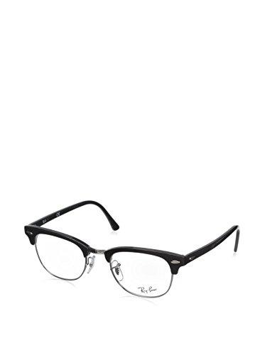 Ray-Ban Clubmaster Square Eyeglasses,Shiny Black,49 mm