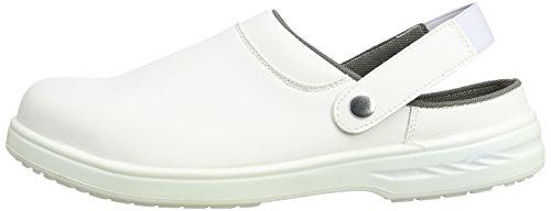 SteeliteTM - Zoccolo, colore: bianco, Bianco (Bianco), 45 EU