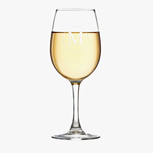 Personalized Initial Arc Cachet White Wine (Cachet White Wine Glass)