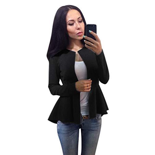 Unie Revers Noir Mode Couleur Yuanu Manteau Manches Automne Coat Slim Femme Longues Blazer Tvw0q1x