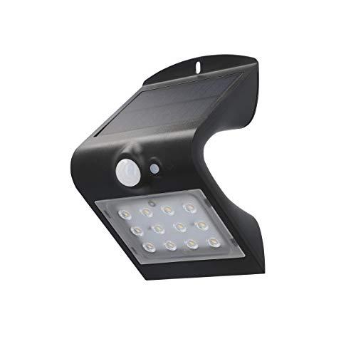 UNITEC Led-wandlamp op zonne-energie met 120 graden bewegingsmelder, 1,5 watt, 220 lumen, 4000 K, buitenlamp op zonne…