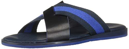 Ted Baker Men's Bowdus Flat Sandal, Dk Blue, 7 Regular US (Ted Baker Blue Pump)