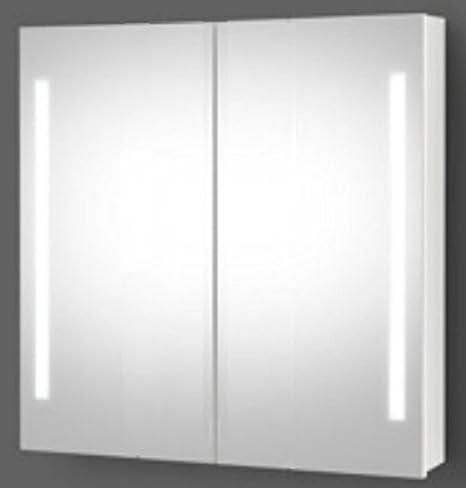 Planetmöbel LED Spiegelschrank Bad Badspiegel Spiegelschrank mit LED Beleuchtung (60 cm)