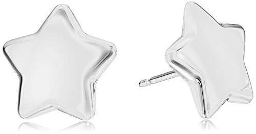 14k Italian White Gold Star Stud (14k Star Earrings)