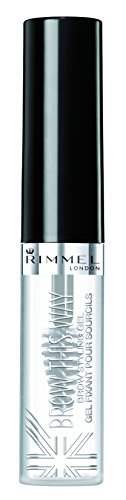 Rimmel Brow This Way, Lightweight Eyebrow Gel, Clear, 0.17 oz., Define & Sculpt Your Brows with Professional Level Styling (Best Rimmel Eyebrow Gels)