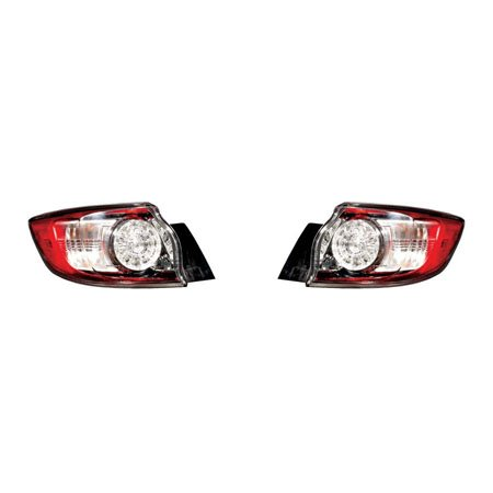 Fits Mazda 3 Hatchback 2010-2013 Tail Light Assembly Outer LED Type Pair Driver and Passenger Side