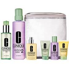 & Away 6 Pieces Set for Skin Types 3,4 Liquid Facial Soap Oily Skin Formula + Clarifying Lition 3 with Pump + Dramatically Different Moisturizing Gel + Travel Set ()
